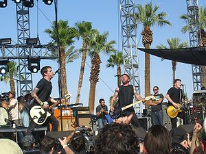Against Me! im Jahre 2007 auf dem Coachella Valley Music and Arts Festival in Indio, Kalifornien.