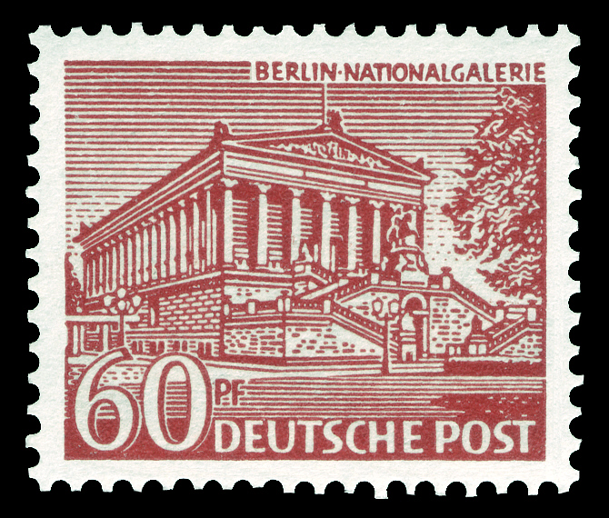 Deutsche Post Berlin 1949 Nationalgalerie Deutsche