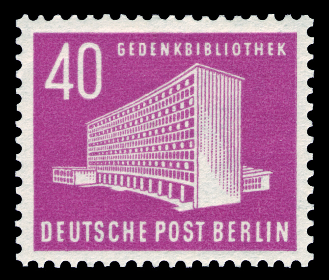 Deutsche Post Berlin 1954 AmerikaGedenkbibliothek am
