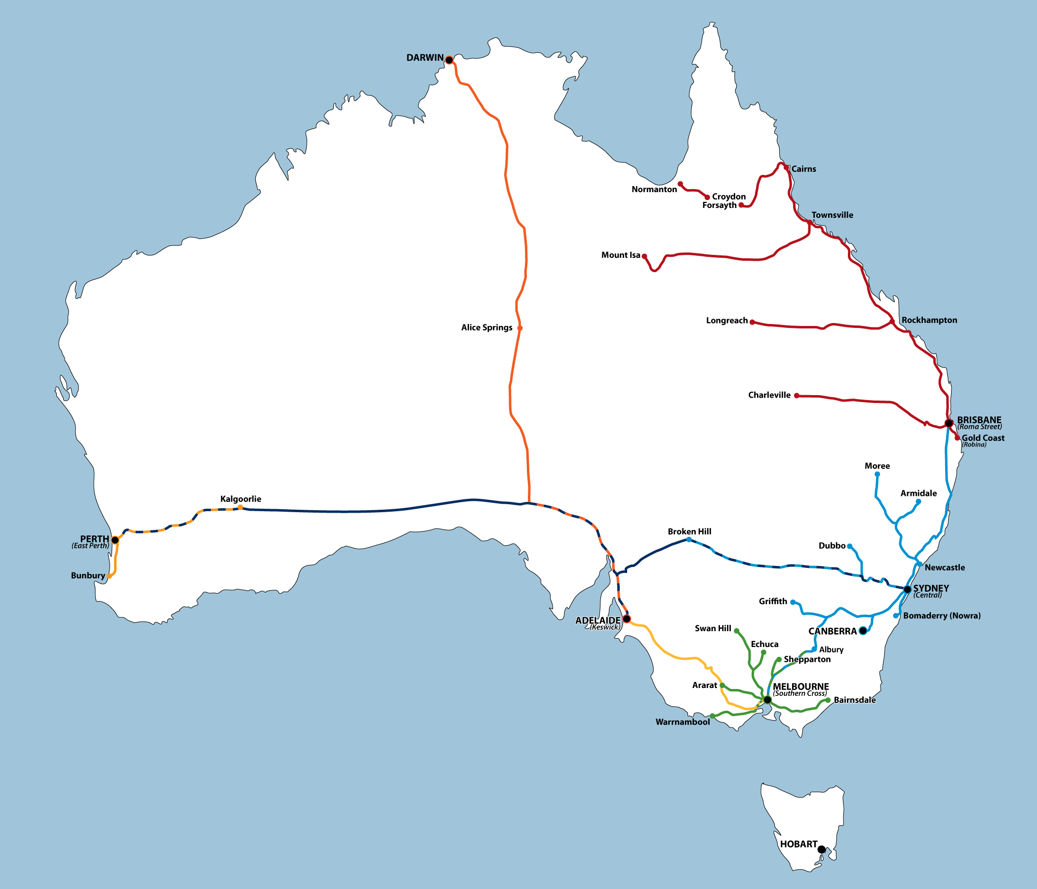 📌 Eisenbahn in Australien on hawaii map, guam map, marshall islands map, ocean map, oceania map, asia map, atlantic map, mexico map, bali map, africa map, laminated map, ring of fire map, europe map, philippine sea map, time zone map, hong kong map, south china sea map, east indies map, australia map, aegean map,